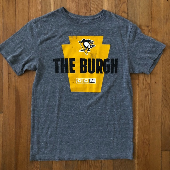 33b8d9a55bab CCM Shirts | Pittsburgh Penguins Tee Color Grey Size M | Poshmark